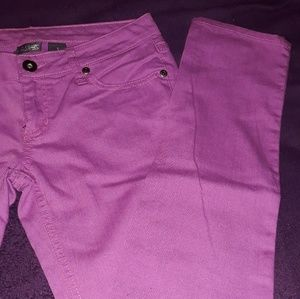 City Streets purple womens jeans
